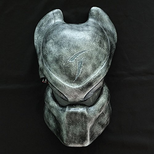 1:1 Full Scale Movie Prop Replica Predator AVP Helmet Mask Scar Bio Wall hanging PD2 (Predator Mask For Kids)