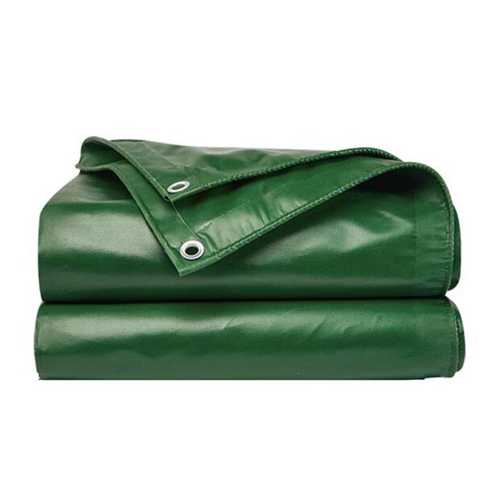 LIXIONG Plane Gewebeplane Doppelseitig Wasserdicht Zelt Draussen Schatten LKW Schuppen Tuch Sonnencreme Atmungsaktiv Wärmedämmung Wetterresistent, 14 Größen (Farbe   Grün, größe   3.85  3.85m) Grün 1.85x1.4m