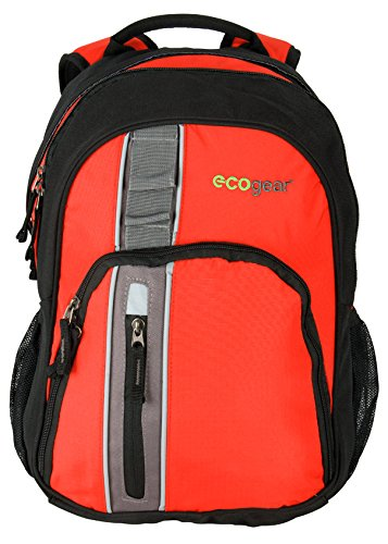 Ecogear - Mochila Casual Adulto Unisex, Red (Naranja) - BG-2687-R: Amazon.es: Equipaje
