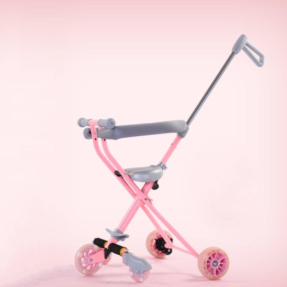 Das Dreirad Der Kinder - Portable-im Freienreise-Faltende Laufkatze Für Die Kinder 2-5 Jahre Alt,D F