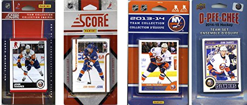 Collectibles Nhl (C&I Collectables NHL New York Islanders 4 Different Licensed Trading Card Team Sets, Brown, One Size)