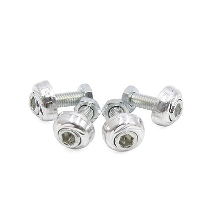 Uxcell 4pcs tono de plata Tornillo de 6 mm de diámetro de hilo ...