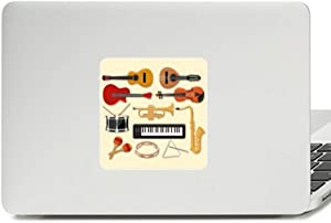 Electric Piano Trombone Guitar Music Decal Vinyl Paster Laptop Sticker PC Decoration
