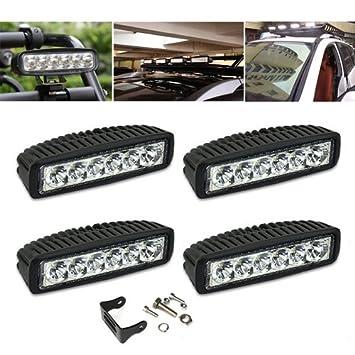 VINGO/® 2X 27W Projecteur Phare de Travail Feux Antibrouillard LED Spot LED CREE pour Camion SUV VTT Moissonneuse Bateau UTV Off Road