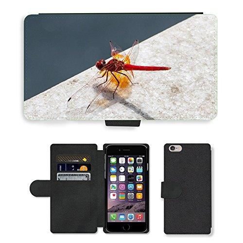 "Just Phone Cases PU Leather Flip Custodia Protettiva Case Cover per // M00128812 Bug Dragonfly Aile d'insecte de la // Apple iPhone 6 PLUS 5.5"""