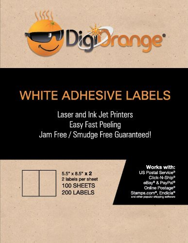 Free Software Making Label (Digiorange Shipping Labels for Inkjet/Laser Printers 5.5 x 8.5 Inches (4000 Labels))