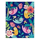 2 Pocket Paper Folder by Greenroom, Size 12 inches (L) x 9.5 inches (W) x .08 inches (D) (Blue Sloths)