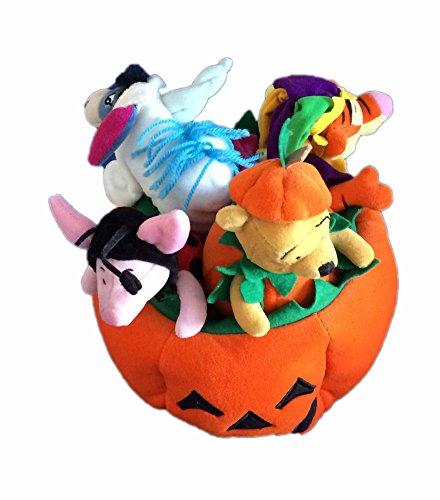 (Halloween Pumpkin Winnie the Pooh, Piglet, Eeyore and Tigger Plush)