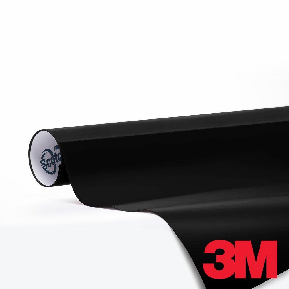 3M1080-4 x 6 Sample 3M Scotchprint Series 1080 Gloss Black Vinyl Car Wrap Film Sheet Roll