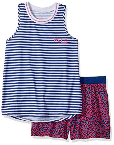 Candie's Girls' Big' Tank and Short Set, Navy/White Stripes, - Stripe Girl Boxer