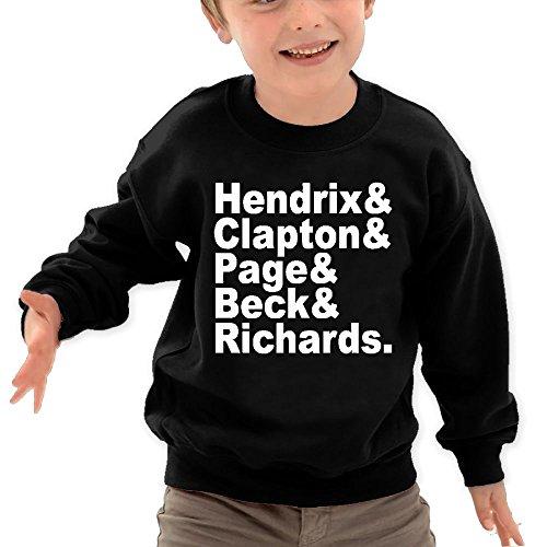 GUITARIST NAMES - Rock Roll Music Bass Cute Little Kids'/Toddlers' Long Sleeve T-Shirt By Gordonchild Black 4 - Bass Little Rock Pro