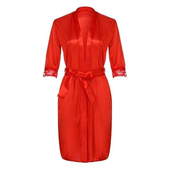 Rcool Camisones Batas y Kimonos Camisones Mujer Camisones Verano Camisones Tallas Grandes Mujer,Vestido de la Ropa Interior de Las señoras de Las la Ropa de ...