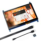 for Raspberry Pi 7 inch Capacitive Touch Screen HDMI Monitor - 1024x600 HD LCD Display Gaming Screen, Drive Free for Raspberry Pi/Windows 10/Beagle Bone Black and Banana Pi