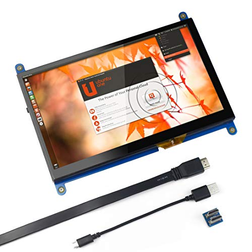 for Raspberry Pi 7 inch Capacitive Touch Screen HDMI Monitor - 1024x600 HD LCD Display Gaming Screen