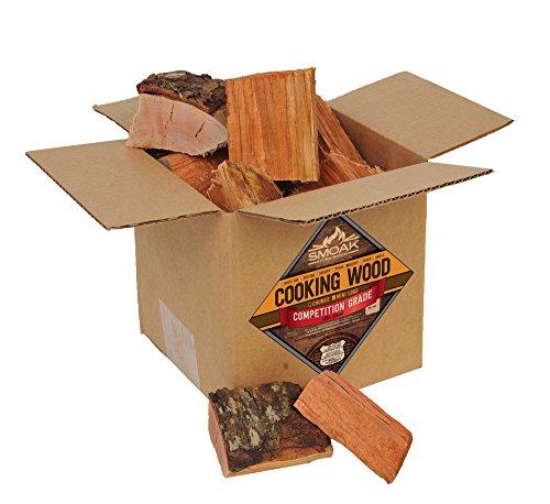 Smoak Firewood Cooking Wood Chunks - USDA Certified Kiln Dried (Cherry, 8-10 lbs)