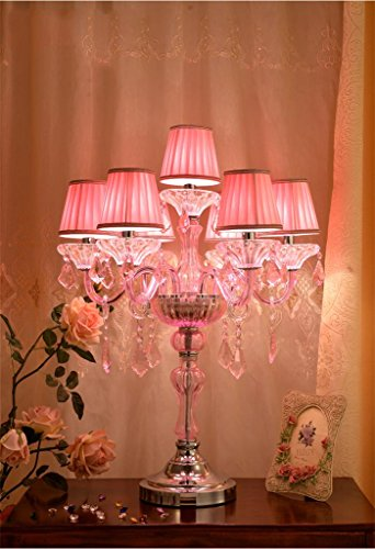 ALUK-Nice table lamp Lámpara de Mesa de Cristal Rosa ...
