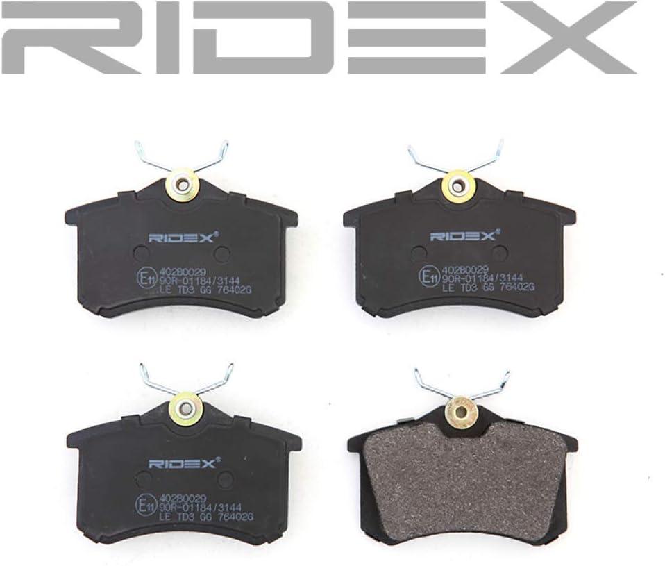 Ridex 402B0029 Bremsbelagsatz Scheibenbremse