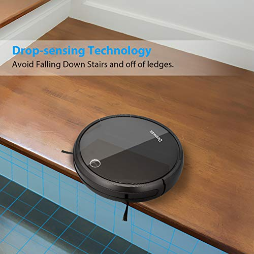 DEENKEE Robot Vacuum, 3-in-1 Robotic Vacuum Cleaner (Mopping&Sweeping) Strong Suction,Smart Sensors,Self-Charging Robot Vacuum Cleaner Pet Hair,Carpets,Tile,Hard Floors