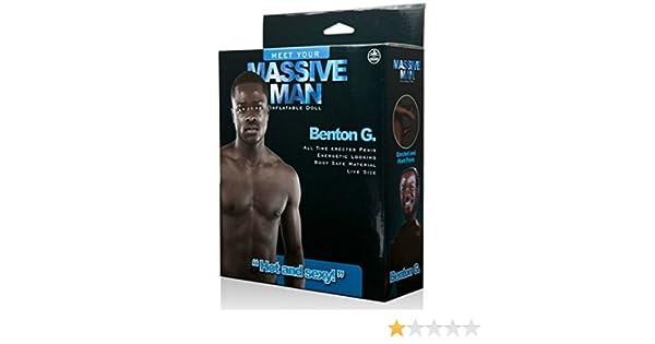 Massive Man MUÑECO Hinchable Negro Benton G: Amazon.es ...