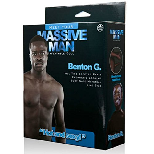 Massive Man MUÑECO Hinchable Negro Benton G: Amazon.es ...