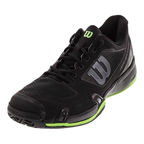 Wilson Men`s Rush Pro 2.5 Tennisschuh Black and Blade Green - (WRS324440-H17)