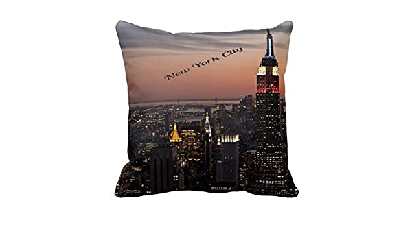 DeReneletrc New York City - Funda de cojín para decoración ...