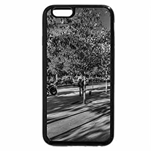iPhone 6S Plus Case, iPhone 6 Plus Case (Black & White) - cloud shadows in a beautiful canyon