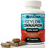 Pure Organic Ceylon Cinnamon Capsules, Supports Healthy Blood Sugar Levels, Promotes Heart Health & Lowers Inflammation for Joint Pain, Anti-inflammatory & Antioxidant Supplement 1200mg Pills