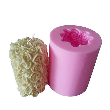 Homankit silicona rosa vela moldes/ moldes de jabón Moldes/ ideal molde para DIY para