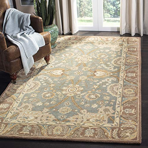 (Safavieh Anatolia Collection AN558D Handmade Traditional Oriental Teal and Camel Wool Area Rug (4' x 6'))