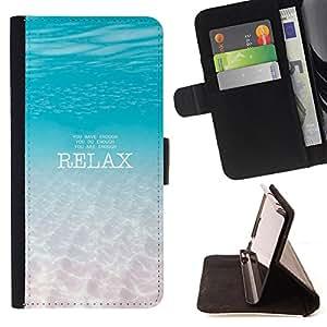 - Relax - - Monedero PU titular de la tarjeta de cr?dito de cuero cubierta de la caja de la bolsa FOR HTC Desire 820 Retro Candy