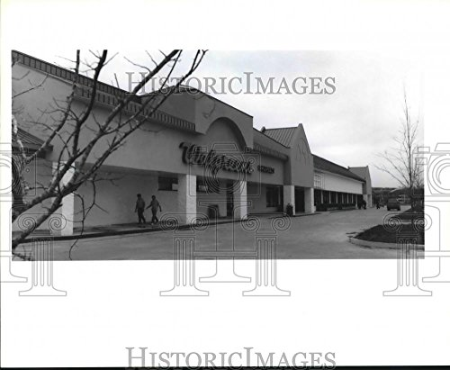 1992 Press Photo View of Holiday Square Shopping Center in Algiers New - New Orleans Shopping Center