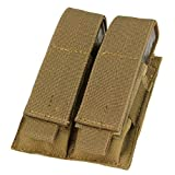 Condor MA23-498 Double Pistol Mag Pouch, Coyote Brown