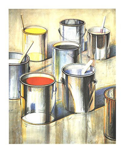 Thiebaud Poster (Wayne Thiebaud-Paint Cans (No text)-1990 Poster)