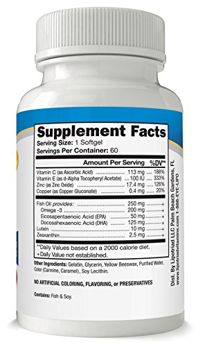 Lipotriad Adult 50 Eye Vitamin And Mineral Supplement W