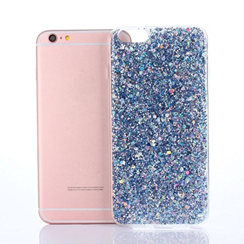 Price comparison product image Glitter Ultra-Thin Glitter TPU Case Aobiny Cover For iphone 6 Plus 5.5 Inch (blue)
