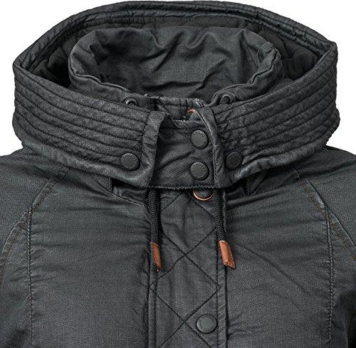 Colores 5 para algodón Mujer de Chaqueta de XXL Khujo XS Negro Invierno Mell Twqz1TgA