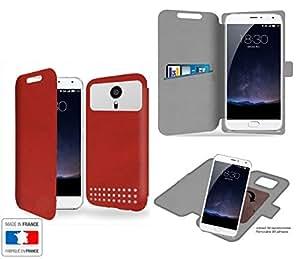 Funda Carcasa Meizu Pro 5 Marron Collection Exception de almacenamiento innovadoras con tarjeta de la puerta interna - Estuche protector de Meizu Pro 5 con fijación adhesiva reposicionable 3M
