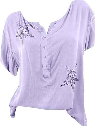 Qingsiy Camisetas Mujer Verano 2019 Blusa Mujer Elegante Camisetas ...