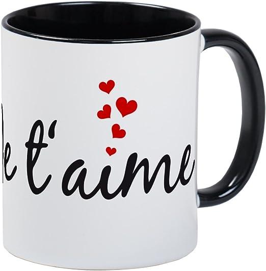 Amazon Com Cafepress Je Taime I Love You French Word Art Mugs Unique Coffee Mug Coffee Cup Kitchen Dining