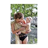 Beachfront Baby Sling - Versatile Water & Warm Weather Adjustable Ring Sling Baby Carrier | Made in USA with Safety Tested Fabric & Aluminum Rings | Lightweight, Quick Dry & Breathable (OS, Sand)