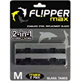 Flipper 2 Piece Stainless Steel Replacement Blade for Glass Tanks