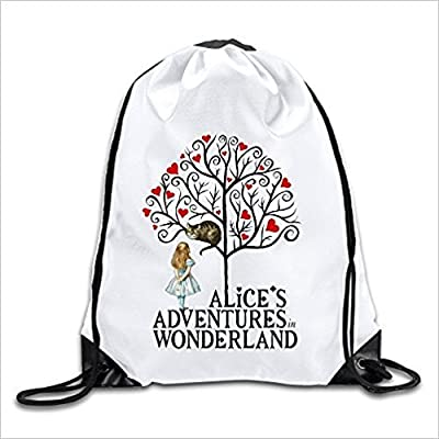 Alices Adventures In Wonderland Magic Kingdom Bags Drawstring Travel Sports  Backpack Athletic Backpack 30%OFF 89b304c25b