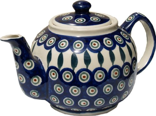 polish pottery teapot with warmer - 5