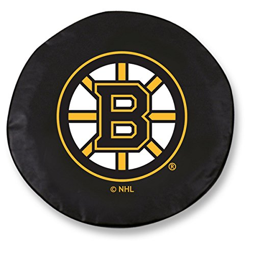 Holland Bar Stool Co. Boston Bruins HBS Black Vinyl Fitted Spare Car Tire Cover (32 1/4