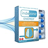 Indezone Energy | Nootropic Brain Booster with Caffeine + L-Theanine | Approved by Health Canada