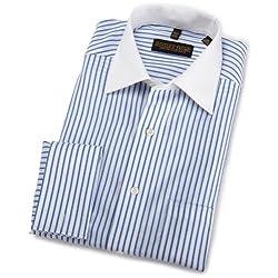 Trump Mens Donald Trump Non Iron Twill Stripe Shirt