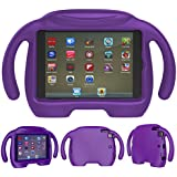 iPad Mini Kids Case - Natple Light Weight iPad Mini 4 Case Shock Proof Kids Friendly Handle Stand Cover Child Proof Protective Cases for Apple iPad Mini 4 3 2 1 Tablet 7.9 inch (Purple)