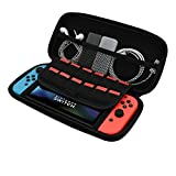 Maxmaxi Travel Carrying Case for Nintendo Switch with Protective Storage Bag with 8 Game Holders