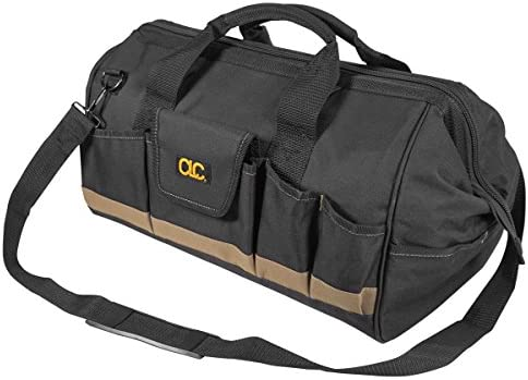 CLC Custom Leathercraft 1163 18-Inch Megamouth Tote Bag, 25 Pocket